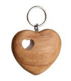 Porte-clé double coeur