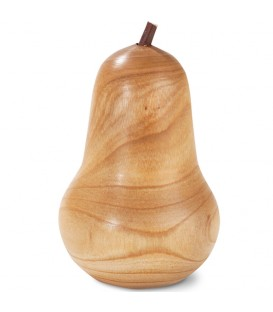 Poire en bois poli, 5,5 cm