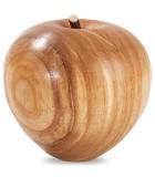 Grande pomme en bois poli, 9 cm