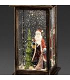 Lanterne à neige à LED avec Père Noël, 27 cm