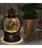 Lanterne à neige boule à LED Père Noël, 20 cm