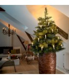 Guirlande pour sapin de Noël, 15 ampoules