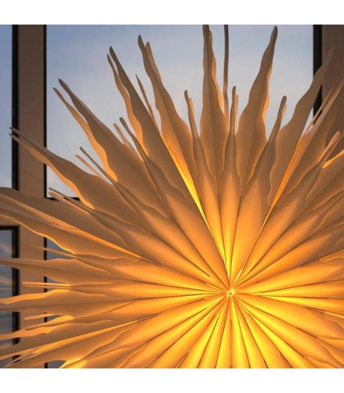 toile lumineuse lectrique en papier suspendre blanche. Black Bedroom Furniture Sets. Home Design Ideas