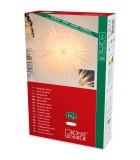 Étoile lumineuse électrique en papier à suspendre, blanche, 66 cm