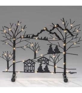 """Chandelier de table en métal à LED, «forêt avec maisons"""""""