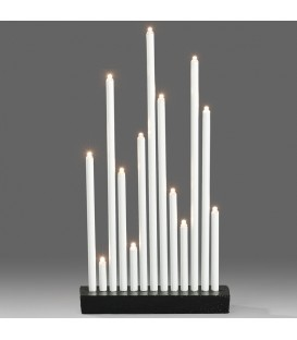 Chandelier design à LED en métal, laqué blanc,13 diodes