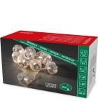 Guirlande lumineuse décorative à LED, boules en métal argentées, 10 diodes