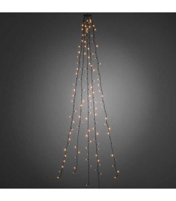 Voile guirlande pour sapin de Noël, 200diodes LED