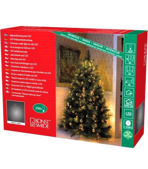 Voile guirlande pour sapin de Noël, 250diodes LED
