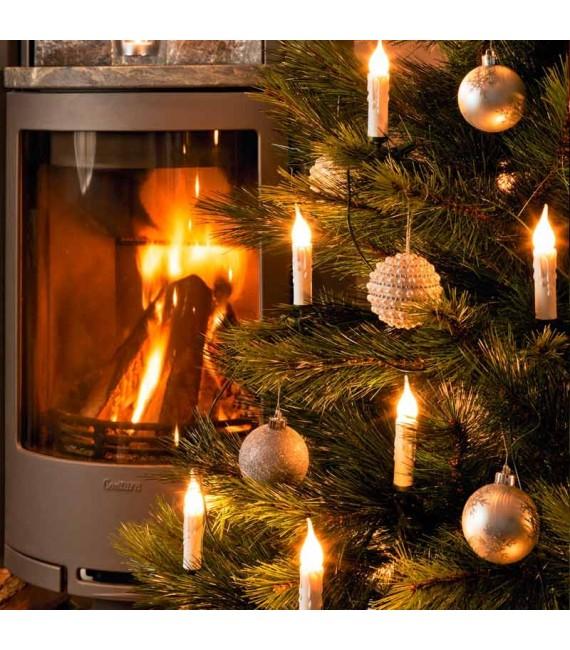 guirlande pour sapin givr e avec aspect cire blanche 20 ampoules klaus boutik. Black Bedroom Furniture Sets. Home Design Ideas