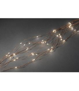 Guirlande LED lumineuse ornées de gouttes, 200 diodes blanc chaud, fil cuivré