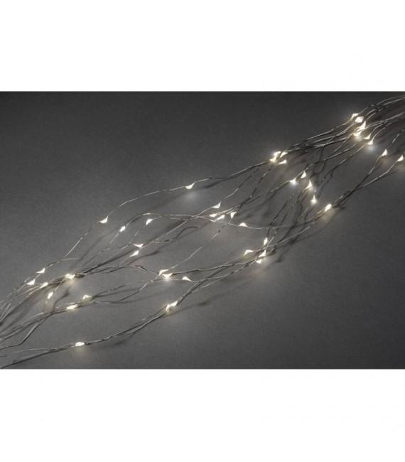 Guirlande lumineuse LED ornées de gouttes, 480 diodes blanc chaud, fil argenté