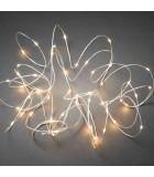 Guirlande lumineuse LED effet gouttes, 50 diodes ambrées, fil blanc