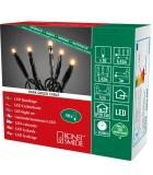 Guirlande lumineuse à micro-LED, soudées, 50 diodes ambrées