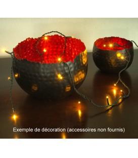 Guirlande lumineuse à micro-LED, soudées, 100 diodes ambrées