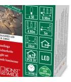 Guirlande lumineuse LED effet gouttes, 50 diodes ambrées, fil noir