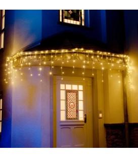 Rideau lumineux gouttière à effet neige à LED, 200 diodes