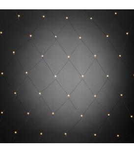 Filet lumineux à LED, avec globes blancs, 80 diodes