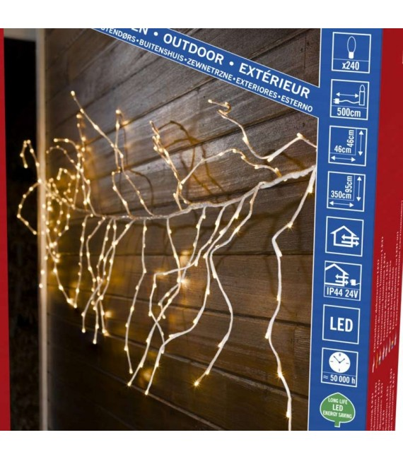 Couronne ouguirlande lumineuse Noël flexible à LED, 240 diodes