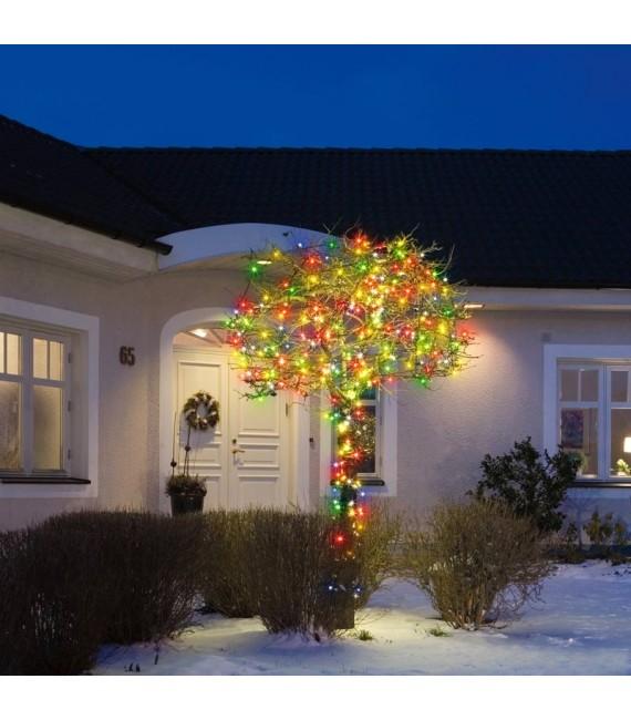 Guirlande lumineuse exterieur LED, 80 diodes multicolores