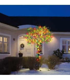 Guirlande Noel exterieur 80 diodes multicolores avec 8 fonctions