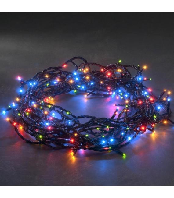 Guirlande lumineuse exterieur LED, 180 diodes multicolores