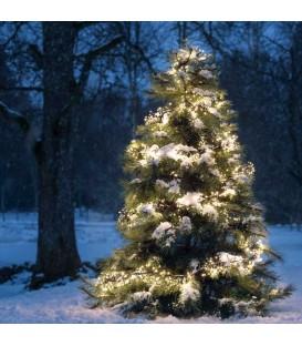 Décoration de Noël extérieur, guirlande 576 diodes blanches