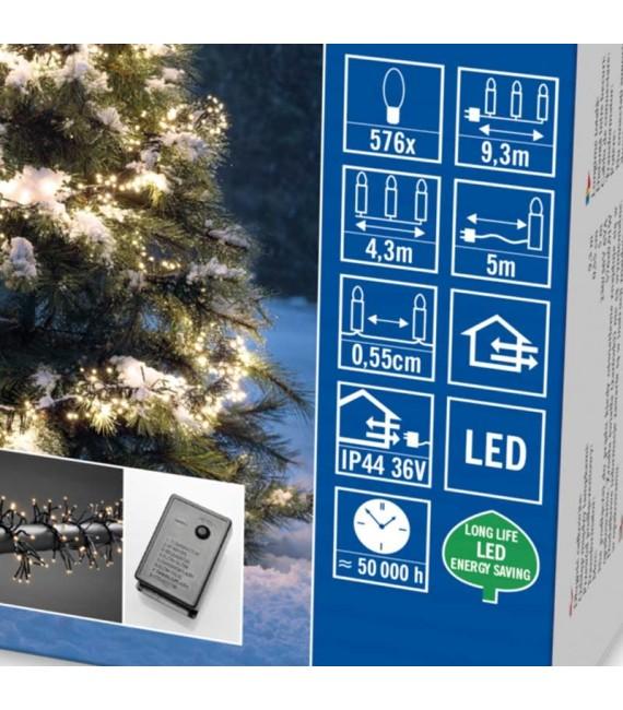 Guirlande lumineuse extérieur à LED, 576 diodes blanches