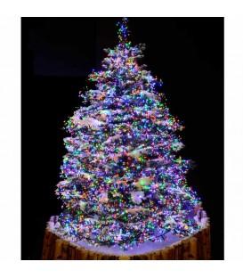 Guirlande 576 diodes multicolores pour décoration Noël extérieur