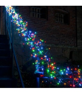 Guirlande lumineuse extérieur à micro-LED, 768 diodes multicolores