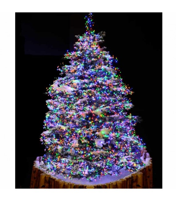Guirlande lumineuse extérieur à LED, 768 diodes multicolores