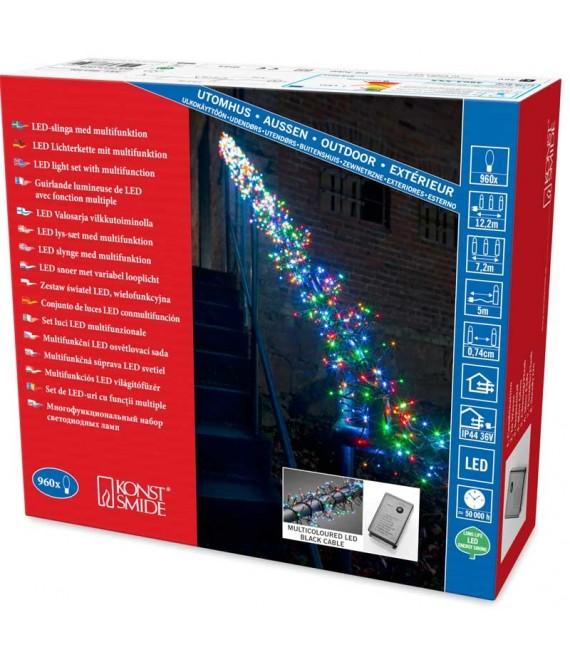 Guirlande lumineuse extérieur à LED, 960 diodes multicolores