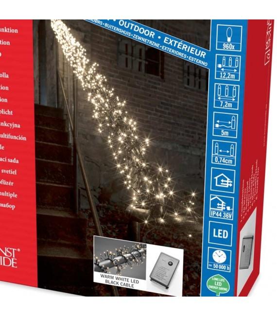 Guirlande lumineuse extérieur à LED, 960 diodes blanches