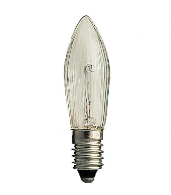 Ampoules de rechange, paquet de 3, clair, 12V, culot à vis E10