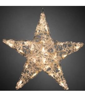 Étoile lumineuse à LED en acrylique, 24 diodes