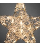 Étoile lumineuse à LED en acrylique, petit modèle,24_diodes blanc