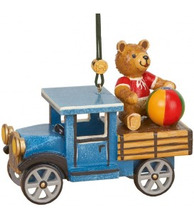 Déco sapin vintage, ourson et camion