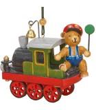 Déco sapin vintage, ourson et petit train
