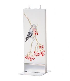 Bougie décorative avec oiseau sur branche