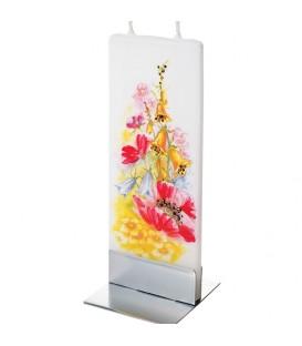 Bougie décorative fleurs des champs