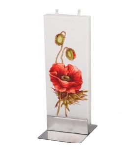 Bougie décorative fleur de coqueliquot