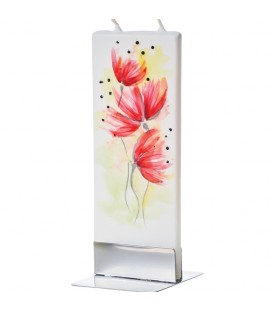 Bougie décorative fleur de pavot