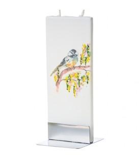 Bougie décorative oiseau sur arbre en fleur