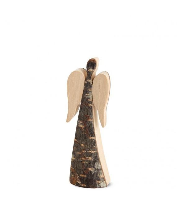 Ange de Noël en bois, double face 9 cm