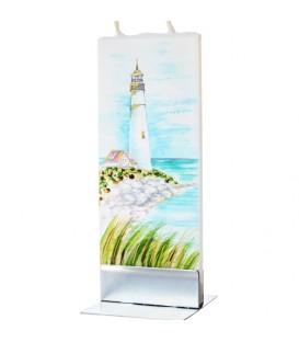Déco marine, bougie phare en bord de mer