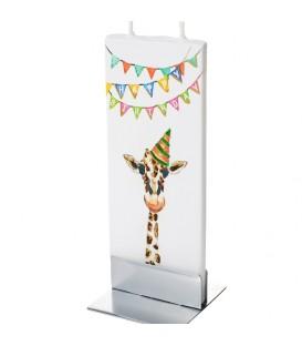 Bougie anniversaire, girafe déguisée