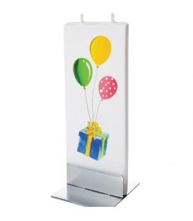 Bougie anniversaire, ballons de couleurs