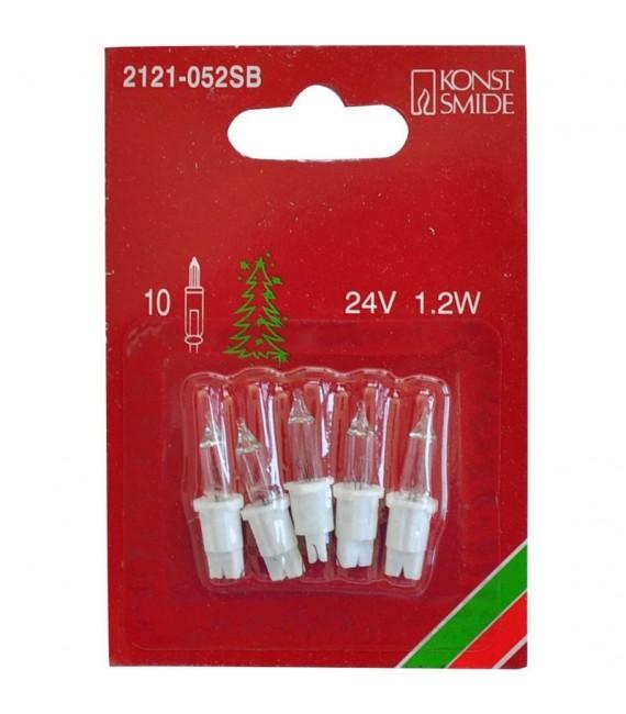 Ampoules de rechange 24V, 1,2W pour guirlande de Noël 10 lampes, Konstsmide 2121-052SB