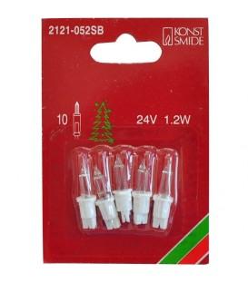 5 Ampoules de rechange 24V, 1,2W pour guirlande de Noël 10 lampes