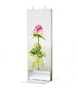 Bougie décorative fleur rose